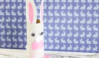 Looking for an easy easter craft? Here's how to make a toilet paper roll bunny. It's a great activity for kids!
