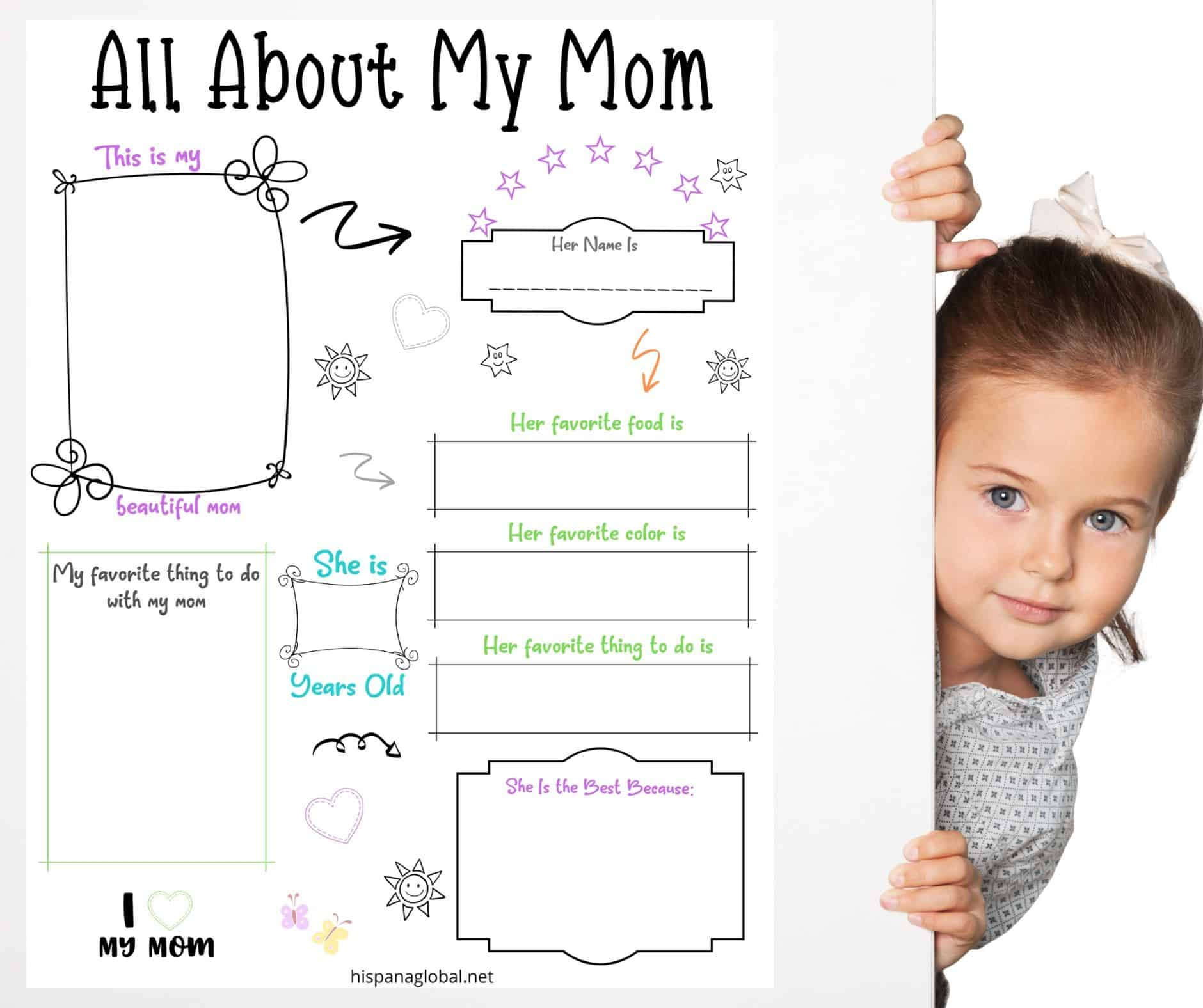 This free Mother's Day activity sheet is not only a cute printable, but it will also melt Mom's heart once kids fill it out.