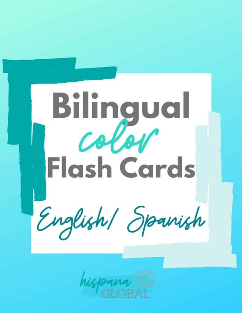 Bilingual color flash cards