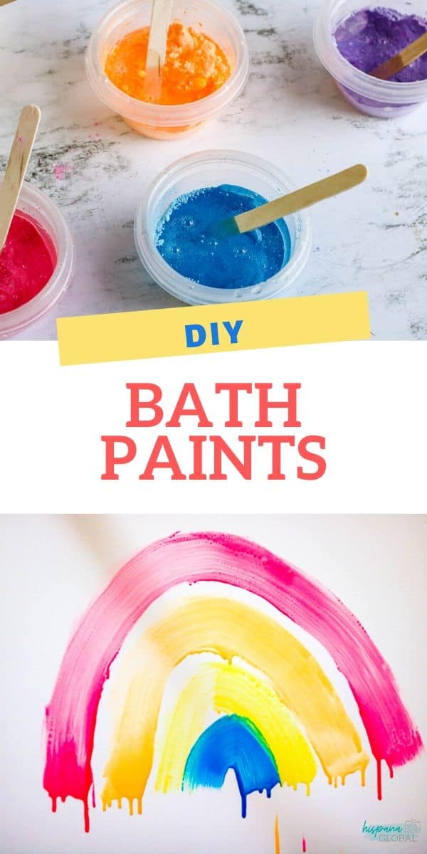Colorful bath paints