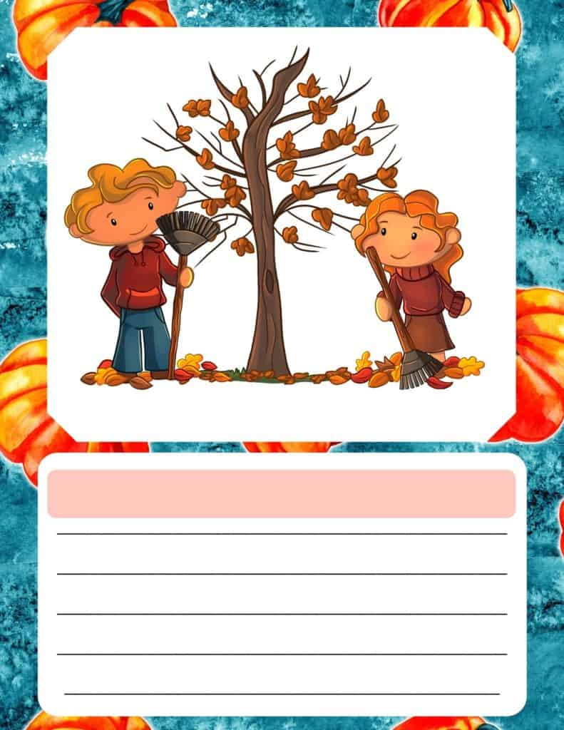 Fall writing prompts for children