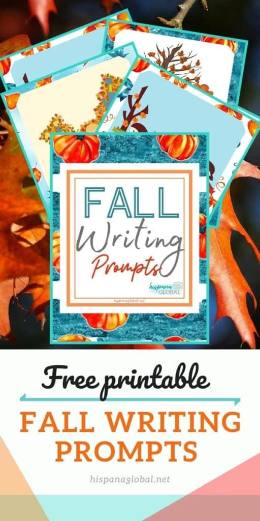 Free printable fall writing prompts. They're so fun!