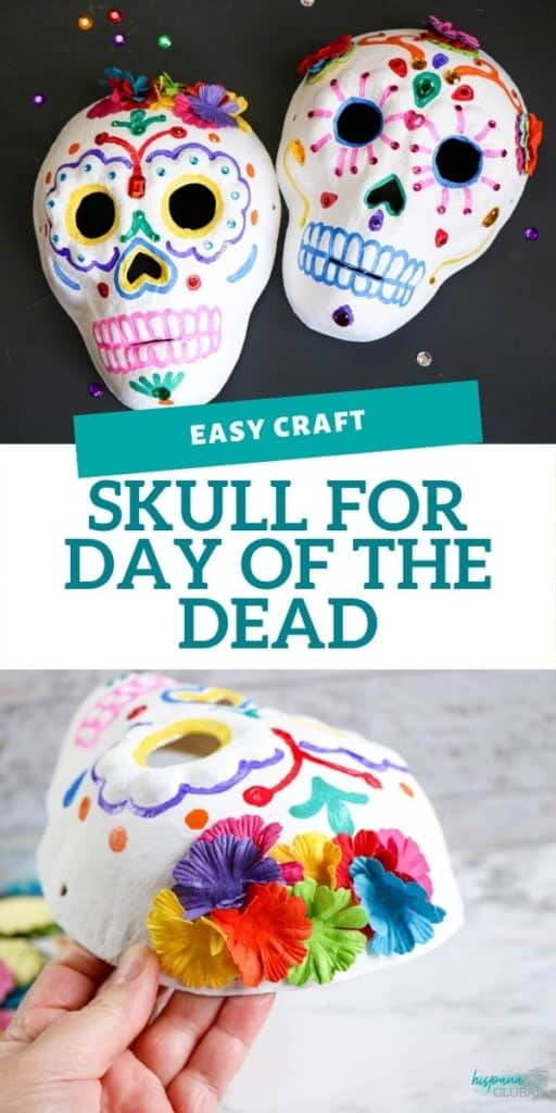 If you decide to celebrate the Día de los Muertos, you can have the children make calaveras or skulls for the Day of the Dead. Here is an easy craft that will look beautiful on any altar.