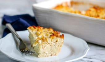 Anybody can make this traditional sweet noodle kugel recipe, which can be served hot or cold.