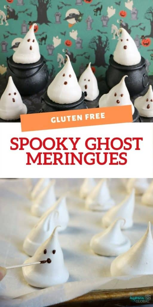 These spooky ghost meringues are perfect for your Halloween table. Not only are they super easy to make, but they're also gluten free.