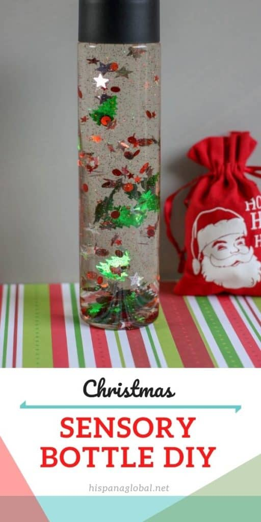 This Christmas sensory bottle is very simple and easy to make so children can have fun for hours.