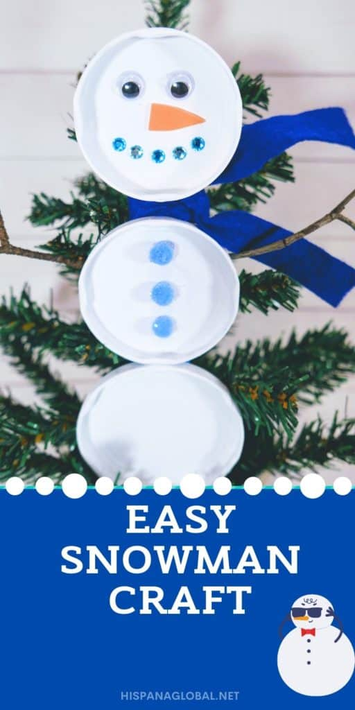 This upcycled snowman made from jar lids is an excellent craft that anyone can do. Kids will love helping decorate your home with it!