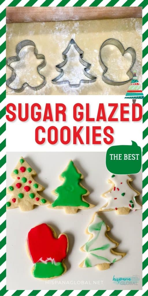 This is the best glazed sugar cookies recipe because the shapes won't spread when you are baking them.