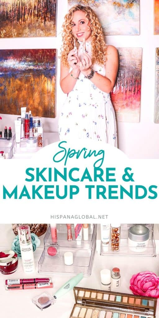 Refresh your look for spring with these skincare and makeup trends. Retinol, vitamin C, mineral SPF, shimmer and glosses are all on trend.